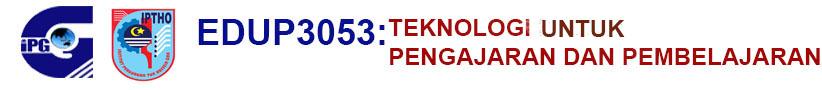 EDUP3053 : Teknologi Dalam Pengajaran Dan Pembelajaran Logo